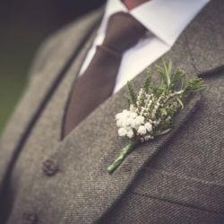 Scottish wedding tweed & heather