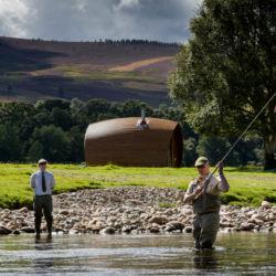 Salmon fishing, River Dee