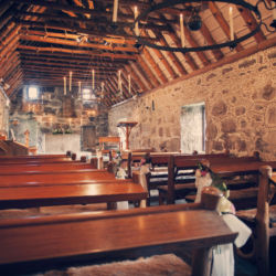 Rustic wedding chapel