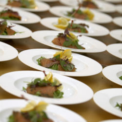Mouth watering wedding day food