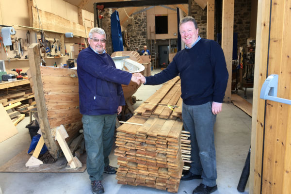 Glen Tanar timber donated to Portsoy Boat Shed