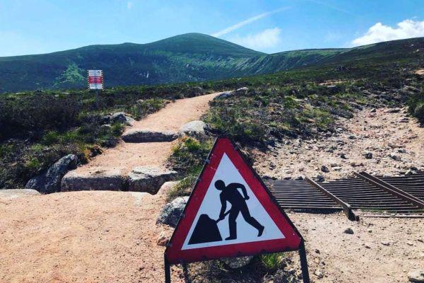 Mt Keen: path improvements underway