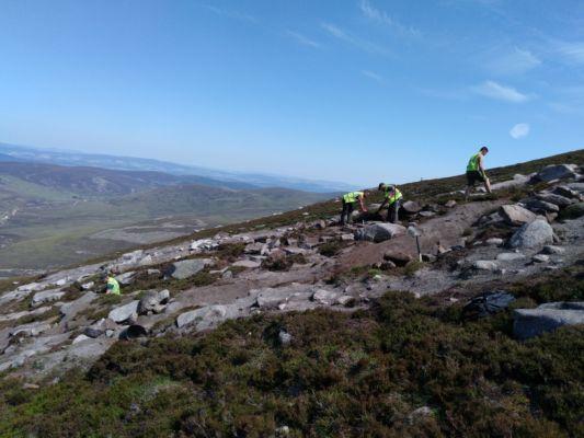 Mt Keen Path Repair Hand Build Crew