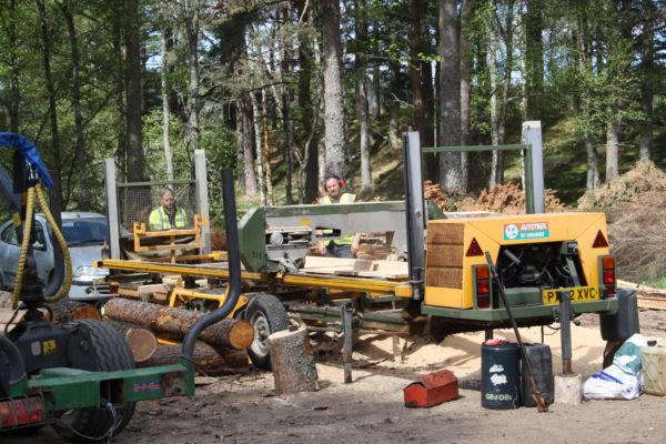 mobile sawmill glen tanar