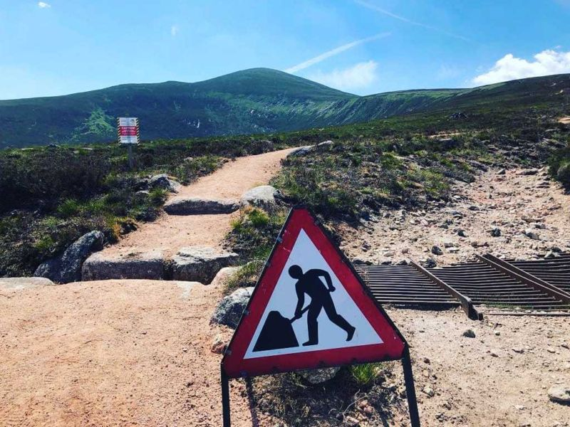 Mt Keen: path improvements underway